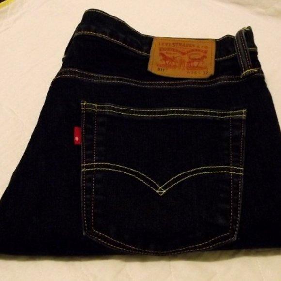 LEVIS 511 Blue Darkwash Straight Leg Mens Jeans